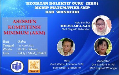 MGMP Matematika Subrayon se-Kabupaten Wonogiri  Kembali Gelar Kolaborasi KKG Kupas Tuntas AKM