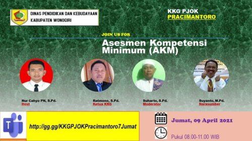 KKG PJOK Pracimantoro Sukses Gelar Webinar AKM