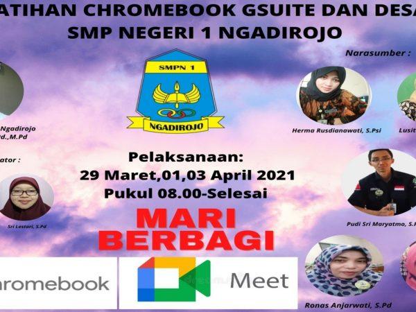 SMPN 1 Ngadirojo Laksanakan Pelatihan  Chromebook Gsuite dan Desain Canva