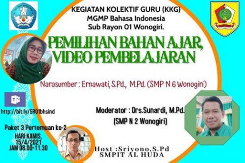 MGMP Bahasa Indonesia Subrayon 01 Gelar Kegiatan Kolektif Guru Paket 3 Pertemuan 2