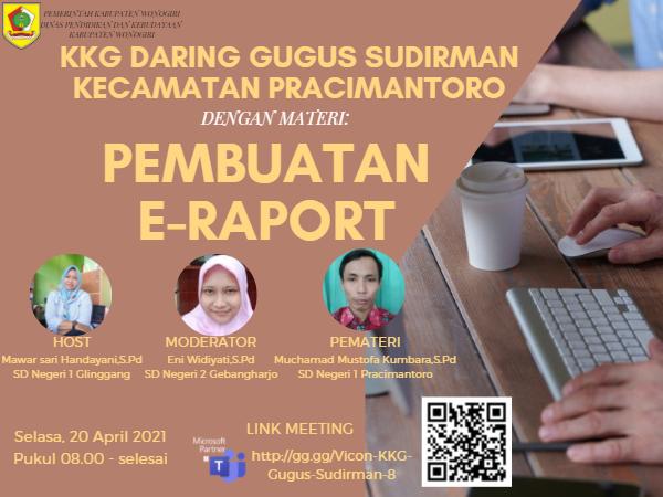 KKG Gugus Sudirman Pracimantoro Gelar Webinar Pembuatan E-Rapor