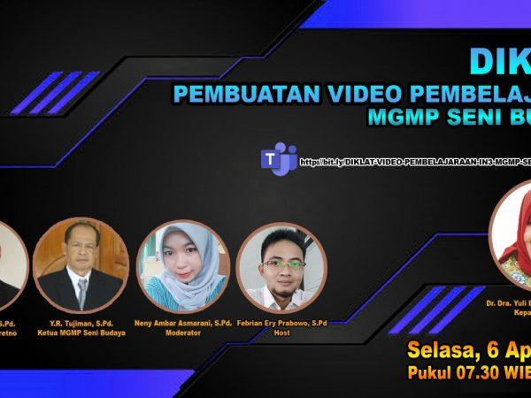 MGMP Seni Budaya Sukses Gelar Diklat Video Pembelajaran Inservice 3