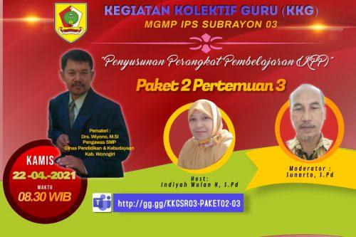 Presentasi RPP Akhiri KKG Paket 2 MGMP IPS Subrayon 03 Baturetno