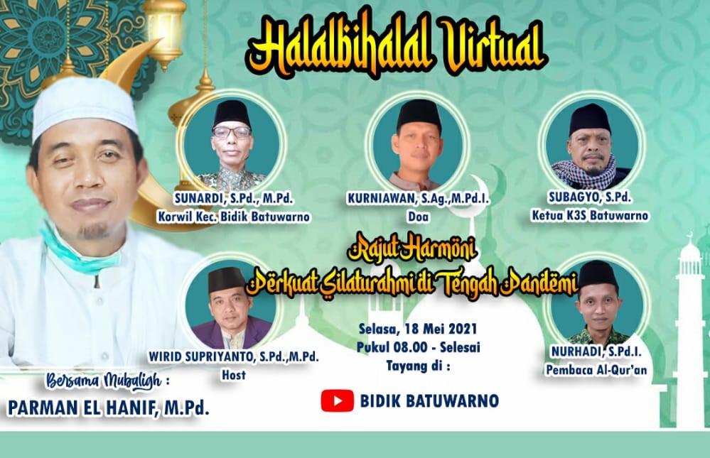 Wilayah Kecamatan Bidang Pendidikan Batuwarno Gelar Halalbihalal Virtual