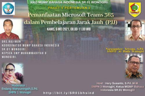 """MGMP Bahasa Indonesia Subrayon 01 Gelar KKG  Pemanfaatan Microsoft Teams 365  dalam PJJ """"Membuat Kelas Online"""""""