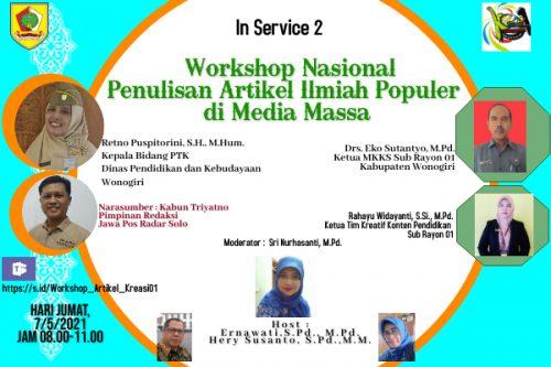 Kreasi 01 Wonogiri Sukses Gelar Workshop Nasional Penulisan Artikel Ilmiah Populer