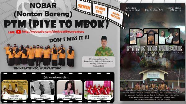 Tim Kreatif Kecamatan Wuryantoro Selenggarakan Nobar Virtual Film Pendek