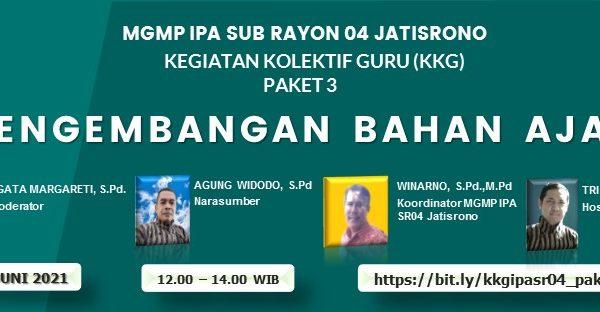 """MGMP IPA Subrayon 04 Jatisrono Sukses Gelar KKG Paket-3   """"Pengembangan Bahan Ajar"""""""