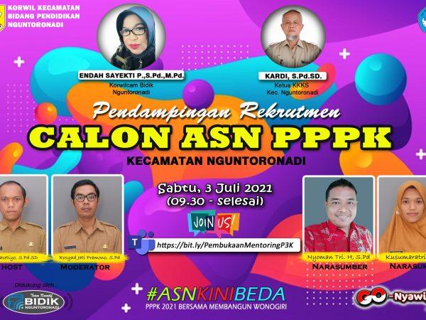 Sarasehan Virtual Pendampingan Rekrutmen Calon ASN PPPK Kecamatan Nguntoronadi.