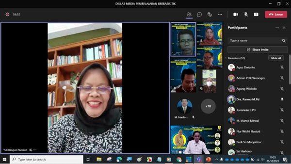 MGMP IPA SMP Kabupaten Wonogiri Selenggarakan Diklat Fungsional Pengembangan Media Pembelajaran Berbasis TIK
