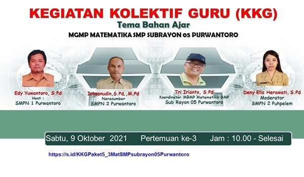 MGMP Matematika Subrayon 05 Purwantoro Tuntaskan KKG 2021